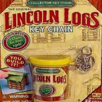Lincoln Log Keychain